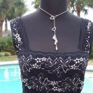 Cache $98 SHEER ILLUSION LACE MESH CAMI Top NWT XS/S/M BLACK & WHITE STRETCH
