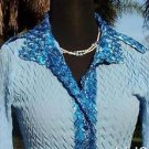 Cache $158 SATIN SHIMMER SNAKE PUCKER STRETCH Top NWT XS/S/M/L