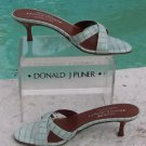 Donald Pliner $225 COUTURE KOGI GATOR LEATHER SANDAL Shoe NIB SLIDE STRAPPY