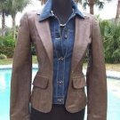 Cache $298 DEMIN + BUTTER SOFT LEATHER 2 in 1 JACKET COAT Top NWT 0/2/4 XS/S