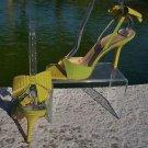 Kate Spade $295 COUTURE Dot Stripe LEATHER Shoe NIB SLING BACK STRAPPY 10