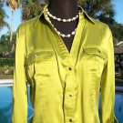 Cache $118 ADJUSTABLE CARGO SLEEVES CHARM SNAP Top NWT S/M SILK STRETCH
