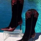 Donald Pliner $595 COUTURE METALLIC LEATHER BOOT Shoe NIB 5 VELVET PEACE