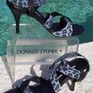 Donald Pliner COUTURE $225 LEATHER CONGO MESH ELASTIC Shoe NIB CHAMBRAY BLACK