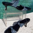 Donald Pliner $210 COUTURE LEATHER SANDAL Shoe NIB 10 DOUBLE MESH ELASTIC