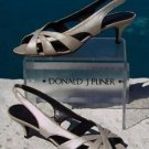 Donald Pliner $345 COUTURE METALLIC LEATHER Shoe NIB ELEGANT THONG SANDAL 6.5 7