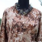 CHICO'S Chicos 1 / 2 $98 SEQUIN Jacket Top NWT S/M/L STRETCH FRONT BUTTON