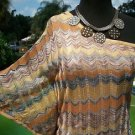 Cache STRETCH $108 TOP NWT 1 SHOULDER- XS/S/M/L CHEVRON PRINT LINED DOLMAN