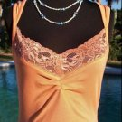 Cache $$ RUCHED BUST LACE EMBELLISHED  CAMI Top NWT S/M STRETCH T-SHIRT