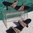 Donald Pliner $210 COUTURE LEATHER SANDAL Shoe NIB 6 9 DOUBLE MESH ELASTIC