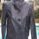 Cache $348 CROC LEATHER LINED JACKET COAT Top NWT 0/2/4/6/8/10/12 WEAR ALL YEAR