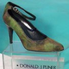 Donald Pliner $385 COUTURE GATOR LEATHER KIWI HAIR CALF Shoe NIB PUMP SIGNATURE