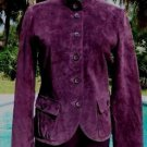Cache $248 LEATHER SUEDE Jacket Top NWT 2/4/6/8/10/12 LINED BANDED COLLAR
