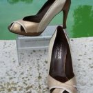 Donald Pliner $315 COUTURE METALLIC PATENT Shoe NIB SLEEK PEEP-TOE PUMP TRICOLOR