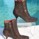 Donald Pliner COUTURE $325 GATOR LEATHER SUEDE Boot Shoe NIB 5.5 SIGNATURE