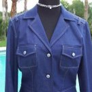 Cache $158 METALLIC STITCHING LINED Top JACKET NWT 4/6/8 S/M Metal Buttons