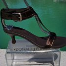 Donald Pliner COUTURE $325 METALIC LEATHER Shoe NIB WIDE ANKLE STRAP THONG