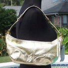 Cache $118 GOLD METALLIC LEATHER PURSE Top NWT MATCHES TOPS PANTS