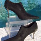 Donald Pliner COUTURE $345 SUEDE ELASTIC LEATHER Shoe Pump NIB 6 SIGNATURE