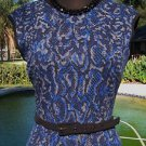 Cache $168 STRETCH DRESS LINED NWT XS/S/M/L + REMOVABLE BELT REPTILE PRINT