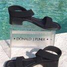 Donald Pliner COUTURE $225 LEATHER CREPE ELASTIC SANDAL Shoe NIB 5 ANKLE WRAP