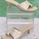 Donald Pliner COUTURE $285 METALLIC KOGI GATOR LEATHER Shoe NIB TOE RING SANDAL