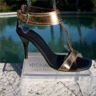 Donald Pliner $355 COUTURE PLATINO METALLIC LEATHER Shoe NIB GOLD - SILVER