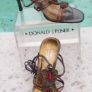 Donald Pliner $265 COUTURE METALLIC LEATHER Shoe Sandal NIB GEM STONE 8.5 10