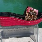 Donald Pliner $335 COUTURE GATOR PATENT LEATHER WEDGE Shoe 5.5 HAIR CALF SANDAL