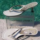 Donald Pliner $215 COUTURE METALLIC PITONE SNAKE LEATHER Shoe Sandal NIB THONG