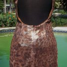 Cache $158 SEQUIN ENCRUSTED OPEN BACK EVENT DRESS NWT S/M/L/XL ANIMAL PRINT 6 14