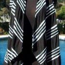 Cache $88 Black White Cardigan SHRUG WRAP  Vest Top NWT XS/S/M YUMMY STRETCH