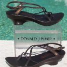 Donald Pliner $225 COUTURE RUST METALLIC LEATHER Shoe NIB PLATFORM BASE NONSKID