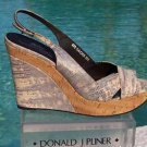 Donald Pliner $275 COUTURE LIZARD LEATHER WEDGE Shoe NIB TEJUS MUSHROOM