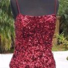 Cache $138 SEQUIN ENCRUSTED HALTER ASYMETRICAL BUSTIER Top NWT XS/S/M/L
