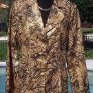 Cache $198 LINEN METALLIC COAT Jacket Top Lined NWT S/M/L GOLD METAL BUTTON