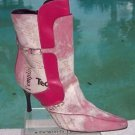 Donald Pliner $650 COUTURE BABY CALF LEATHER Boot Shoe NIB HAIR CALF FUCHSIA