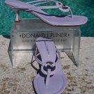 Donald Pliner $225 COUTURE LEATHER Shoe Sandal NIB 7.5 T-STRAP LAVENDAR