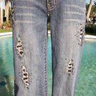 Cache EMBELLISHED FRONT & BACK $158 STRETCH DENIM Jean Pant NEW XS/S 2/4/6