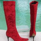 Donald Pliner $385 COUTURE TOMATO PAYNE STRETCH VELVET Boot Shoe NIB 6 SIGNATURE