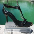 Donald Pliner $255 COUTURE LEATHER Shoe NIB 9.5 T-STRAP SANDAL NANY WORK EVENT