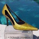 Donald Pliner $250 COUTURE ANTIQUE PATENT LEATHER Shoe NIB CUT-OUT SIDES SLEEK