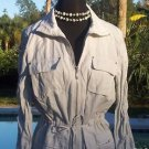 Cache FRONT ZIP $118 WINDBREAKER Jacket Top NWT S DRAW STRING WAIST & SLEEVE END