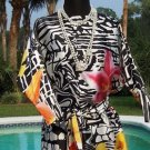 Cache $168 TROPICAL PRINT 100% SILK Dress + REMOVABLE BELT NWT XS/S WORK EVENT