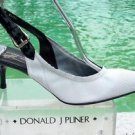 Donald Pliner $295 COUTURE PERFORATED LEATHER Pump Shoe NIB STRETCH SLINGBACK