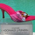 Donald Pliner COUTURE $225 MESH ELASTIC LEATHER Shoe NIB TIE DYE BUCKLE