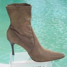 Donald Pliner $395 COUTURE BRONZE METALLIC STRETCH LEATHER Boot Shoe NIB 9.5