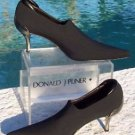 Donald Pliner $340 COUTURE LEATHER Shoe Pump NIB 6 BOOTIE CREPE ELASTIC STRETCH