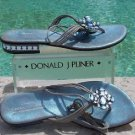 Donald Pliner $285 COUTURE METALLIC LEATHER Shoe Sandal NIB CHUNKY STONES