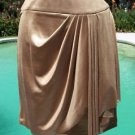 Cache $88 STRETCH FAUX WRAP RUCHED METALLIC Skirt NWT XS/S/M SELF-BELT